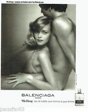 PUBLICITE ADVERTISING 116  1977   Balenciaga eau toilette Ho Hang