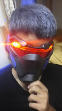 High quality Overwatch OW 76 Soldier Cosplay Prop Mask LED luminous helmet ma #O
