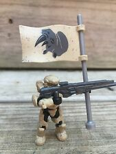 Halo Mega Bloks Set #CNK25 UNSC Fireteam Rhino Figure #3 With Flag!!