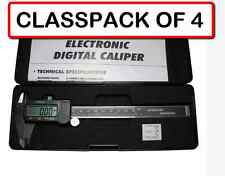 """(Pack of 4) 6"""" 3-in-1 Electronic Digital Caliper with Large Lcd Display & Case"""