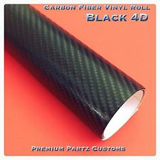 "4D Carbon Fiber Twill Vinyl Premium Roll Tape 3M Adhesive New Black 12""X60"""