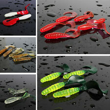 Soft Plastic Fishing Lure Mix Artificial Swim Saltwater Fishing Bait Lure 100pcs