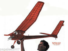 "Model Airplane Plans (FF): Class D 78"" FRIGHT & 72"" FLEA Towline Glider: 2 plans"