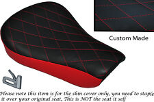 TWO TONE DIAMOND B RED CUSTOM FITS HARLEY SPORTSTER 883 48 72 RIDER SEAT COVER