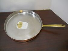 "PAUL REVERE WARE 12"" Solid Copper Stainless Steel Crepe Souffle Flat Bottom Pan"