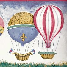 Colorful Hot Air Balloons in Sky - 45 feet FREE USA SHIP - Wallpaper Border A210