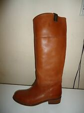 NEXT TAN LEATHER PULL ON KNEE HIGH RIDING BOOTS - UK 7 / EU 41