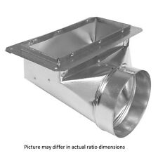 "6"" x 12"" x 6 Galvanized-Steel 90-Degree Floor Ceiling Heat AC Register Duct Boot"