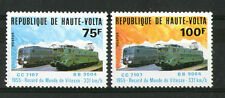 UPPER VOLTA 1980 RAILWAY SPEED RECORDS PAIR COMMEMORATIVE STAMPS SG 548 / 9 MNH