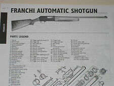 FRANCHI SEMI-AUTO SHOTGUN EXPLODED VIEW