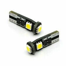 2x T10 W5W CAN BUS Sidelights Interior WHITE LED 3 SMD Bulbs for Jeep