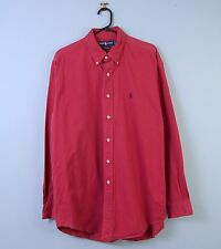 Mens Vintage Ralph Lauren Oxford Shirt Blake Faded Red Large