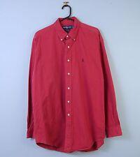 Da Uomo Vintage Ralph Lauren Camicia Oxford Blake rosso scolorito grandi