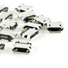 20 Pcs Micro USB Type B Female Socket 180 Degree 5-Pin SMD Soldering LW