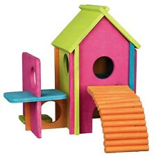 Trixie Hamster Mice Mouse Wooden Climbing Play House Home Toy 61370