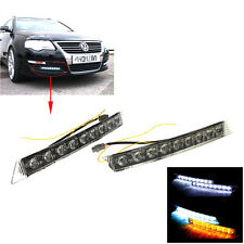 2X 9 LED Daytime Running driving Light DRL Car Fog lights For Benz Audi BMW New