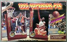 1995 Superior Pix Basketball Sealed Box 2 Auto's a Box Shaq Kidd Mourning Maybe?