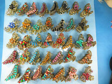 US SELLER-wholesale bulk 10 antique hair claws clips crystal rhinestone faux gem