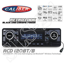 Caliber rcd120bt/b look retro radio Black Bluetooth CD mp3 USB SD a2dp autorradio