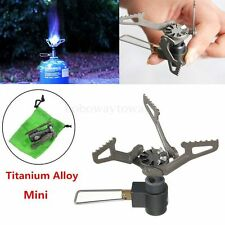 Titanium Alloy Mini Foldable Portable Outdoor Picnic Gas Burner Camping Stove Bo