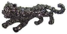 Broche CHAT style Faberge bijou fantaisie raffine Broche strass Chat sauvage