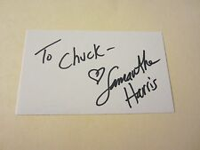 "Samantha Harris Actress Autographed Signed 3X5 Index Card ""D3: The Mighty Ducks"""