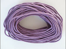 2mm Waxed Cotton Cord Lavender 10 yard pack (30 feet)