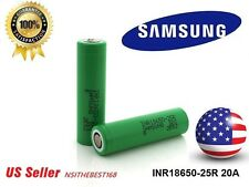 4-SAMSUNG INR18650-25R 3.7V 2500mAh High Drain Rechargeable Battery - US Seller