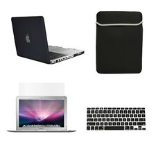 "4 in1 Rubberized BLACK Case for Macbook PRO 15"" + Key Cover + LCD Screen+ Bag"