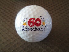 LOGO GOLF BALL-60 & SENSATIONAL!!!  NOVELTY...