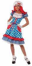 Rag Doll lady Costume Raggedy Ann One Size up to 14/16 New by Forum 73195