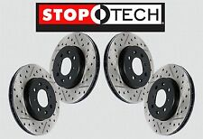 [FRONT + REAR SET] STOPTECH Drilled Slotted Brake Rotors [w/BREMBO] STS26870