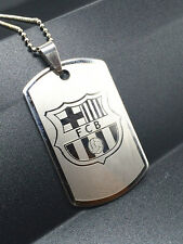 Fashion Football Club Silver 316L Stainless Steel Titanium Pendant Necklace NEW