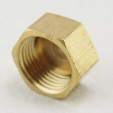 "1/2"" BSP Female Pipe Hex Head Brass Plug Pipe Cap Cover Fittings x  5"