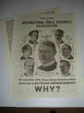 1918 Case of IBSA Rutherford Jehovah Watchtower