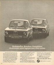 Publicité Advertising 1975  BMW  1602  1802  2002  2002 tii