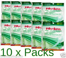 10- MINT FLOSS 500 PICKS Total Plackers Dental Flossers Toothpick Flossing Teeth