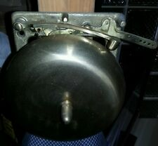 """Vintage 8"""" Polished Brass Ring Side Boxing Fire House Dinner  Bell"""