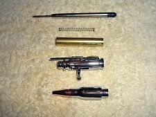 Two 30 Caliber Bolt Action Chrome Bullet Pen Kits  woodturning