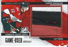 2013-14 ITG Heroes and prospects Game Jersey CARTER VERHAEGHE #SSM-26 #/10 Gold