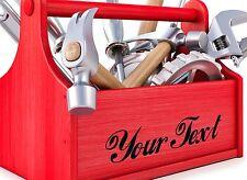 2X CUSTOM VINYL DECAL. for Storage box, tool box. CHOOSE COLOUR & FONT