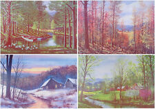 FOUR SEASONS Art Prints WINTER Spring SUMMER Fall LANDSCAPES W. Harold Hancock