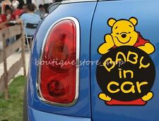 BABY IN CAR Winnie the Pooh rear bumper window truck car stickers Wall Decals