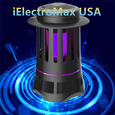 New Electric Indoor Mosquito Fly Bugs Killer Zapper Led Inhale Killer Lamp Black