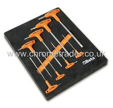 BETA TOOLS M50 8PC T-HANDLE HEXAGON KEY SET IN FOAM TRAY
