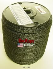 """200' 1/4"""" 100% Dacron Polyester Rope Tents, Doomsday Prepper, Dipole Antenna"""