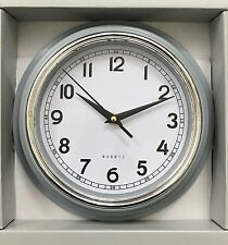 NEW COLOUR QUARTZ GRAY WALL QUALITY ROUND 21cm CLOCK BEST GIFTS