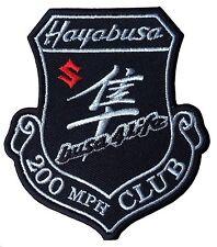 Suzuki Hayabusa Motorcycle  200 MPH Club  Iron on /Sew on biker  patch