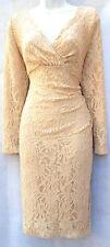 Ralph Lauren lace long sleeves surplice neck elegant cocktail women plus dress