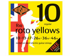 Rotosound Roto Yellow Electric Guitar Strings Gauge 10 - 46 Free 10 Gauge String